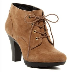 """BDGARRET"" Brown Suede Laced Ankle Boots"